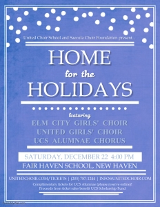 Home for the Holidays flyer